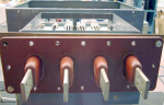 All transformer connected cabinets have the conenctions aligned with a dummy bushing during build